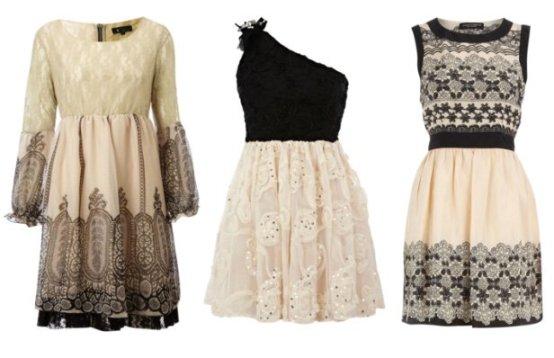Dress Trend: Cream and Black Lace - 3 Picks Under $45 1