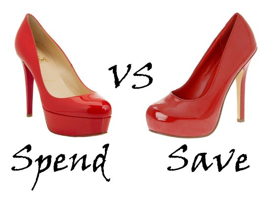 Spend or Save: Red Patent Pumps 1