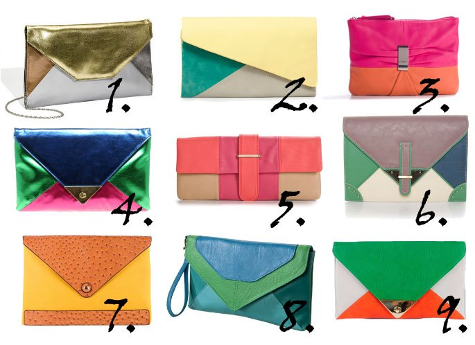 Trend Alert: Colorblock Clutches From $17 to $50