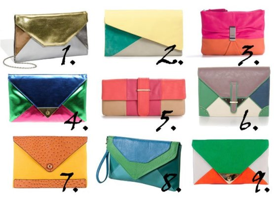 Trend Alert: Colorblock Clutches From $17 to $50 1