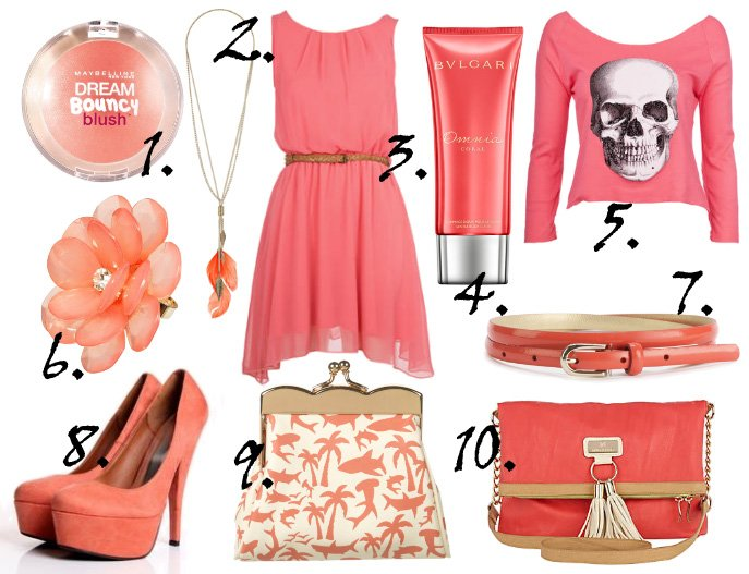 Color of the Week: Coral – 10 Finds Under $50!