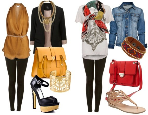 leggings outfit how to wear 1