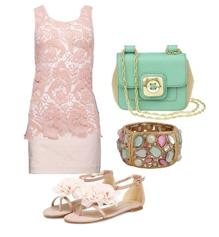Warm Weather Essentials: Pink Lace and Minty Freshness 13