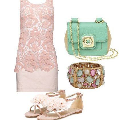 Warm Weather Essentials: Pink Lace and Minty Freshness 2