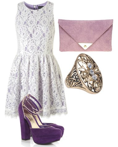 Daily Outfit: Purple Lace Look for $150