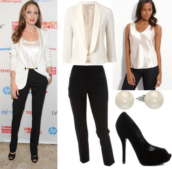 Get Her Style - Angelina Jolie's Black & White Outfit for 1