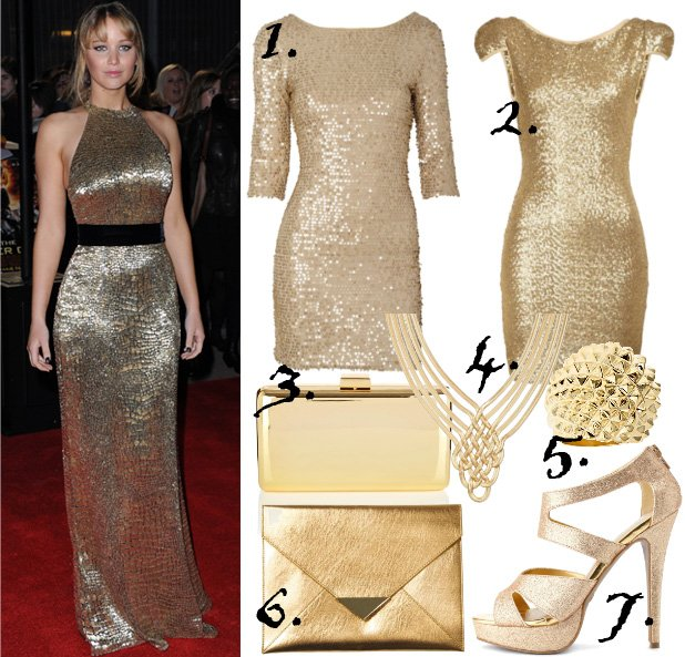 Celebrity Style: Golden Luxury Under $50