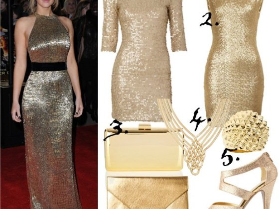 Celebrity Style: Golden Luxury Under $50 4