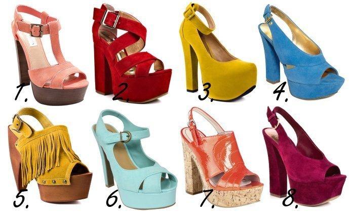 Colorful & Chunky Platform Heels – 8 Retro Picks Under $100