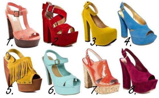Colorful & Chunky Platform Heels - 8 Retro Picks Under $100 1