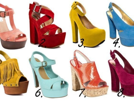 Colorful & Chunky Platform Heels - 8 Retro Picks Under $100 2