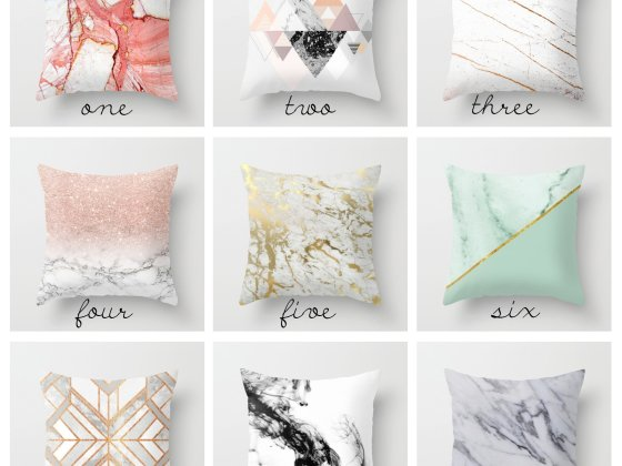 Trend Alert: Marble Pillows for $20 1