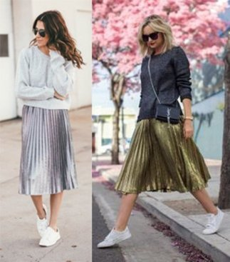 metallic-skirt-outfit