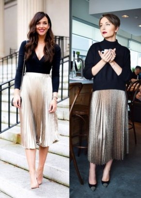 metallic-skirts-outfit