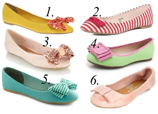 Summer Essentials: Colorful Bow Flats Under $35 1