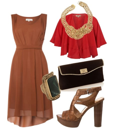 Daily Outfit: Milk Chocolate and Red Chiffon 1