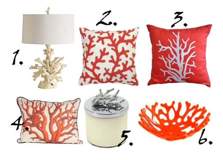 Decor Trends: Coral Inspiration - 6 Finds Under $170 12