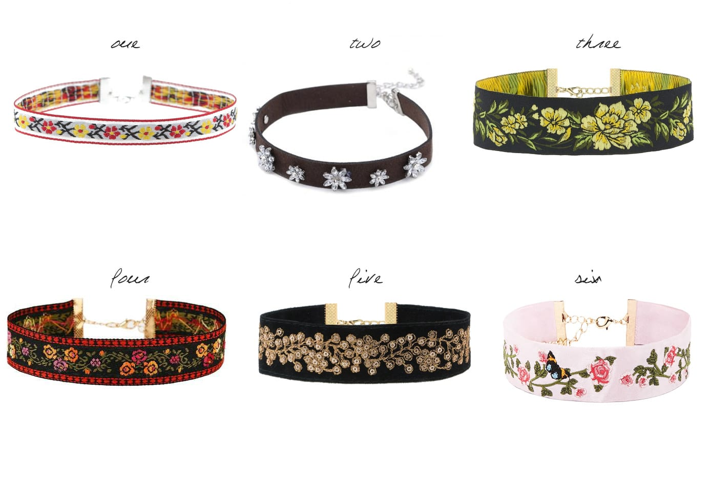 6 Floral Chokers Under 30$