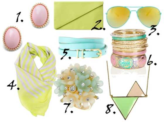 Just in Time for Spring: Pastel Accessories Under $30 4