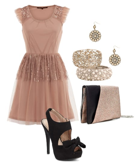 Sparkly Chic: Dusty Pink Party Look for Less Than $100! 1