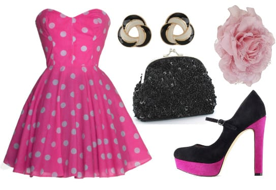 Modern Pin-Up Delight - Retro Fun in Polka Dots for $112 4