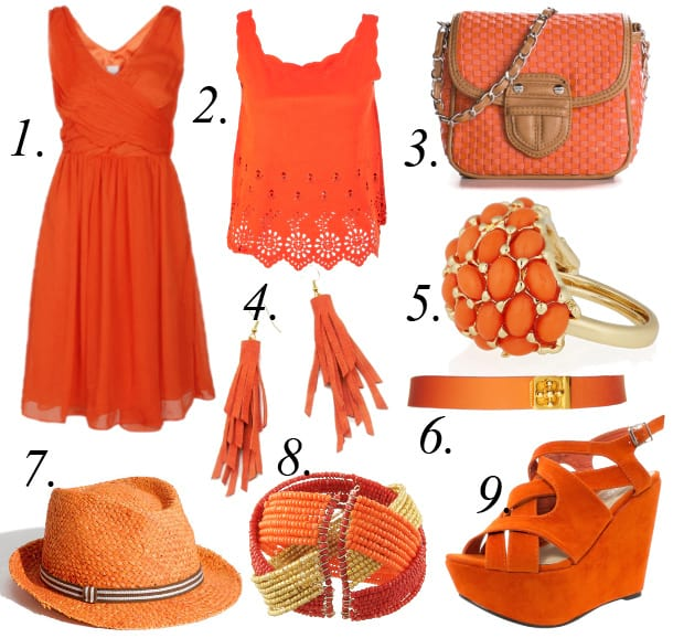 Color of the Week: Tangerine - 9 Hot Summer Picks Under $50 2
