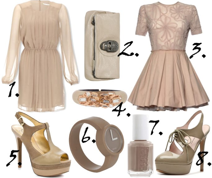 6d82b2099878 taupe color taupe dress taupe shoes - How To Be Trendy