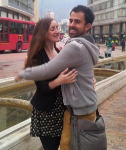 Naomi&Javi hugging