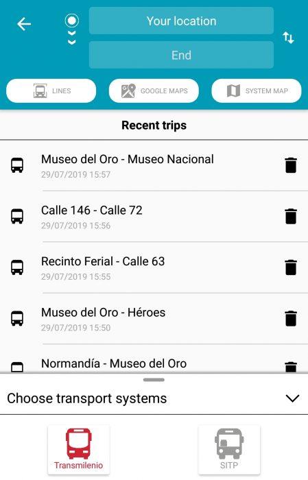 Transmilenio app bogota bus system