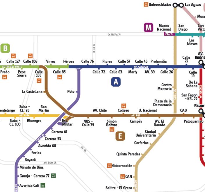 TransMilenio map