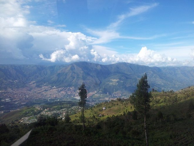 View from the metro-cable cars in Medellin