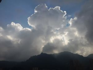 Bogota regularly makes an effort with me, reminding me that every cloud has a silver lining.