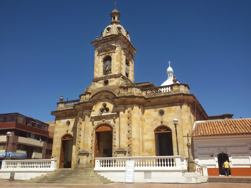 The church in Paipa's main square