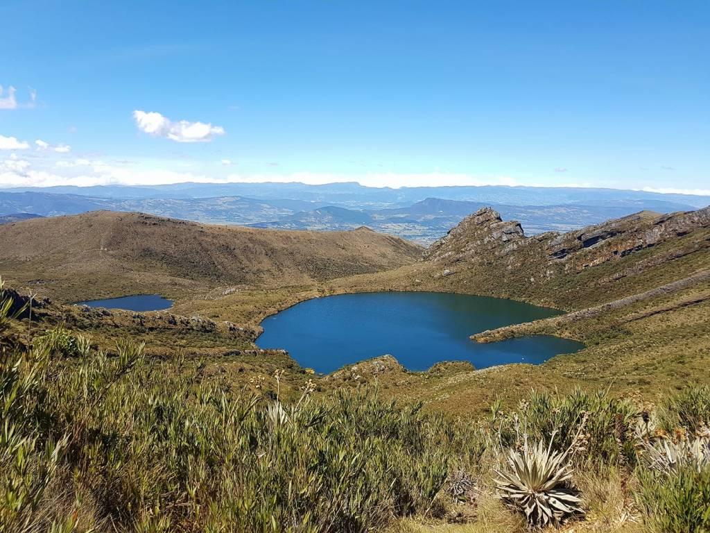 Two lagoons at Chingaza National Park
