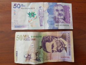 Colombia currency 50000 pesos