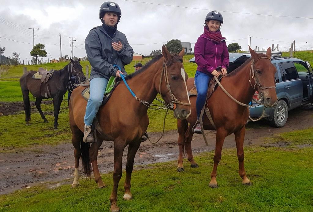 Horseback riding near Bogota in La Calera Colombia
