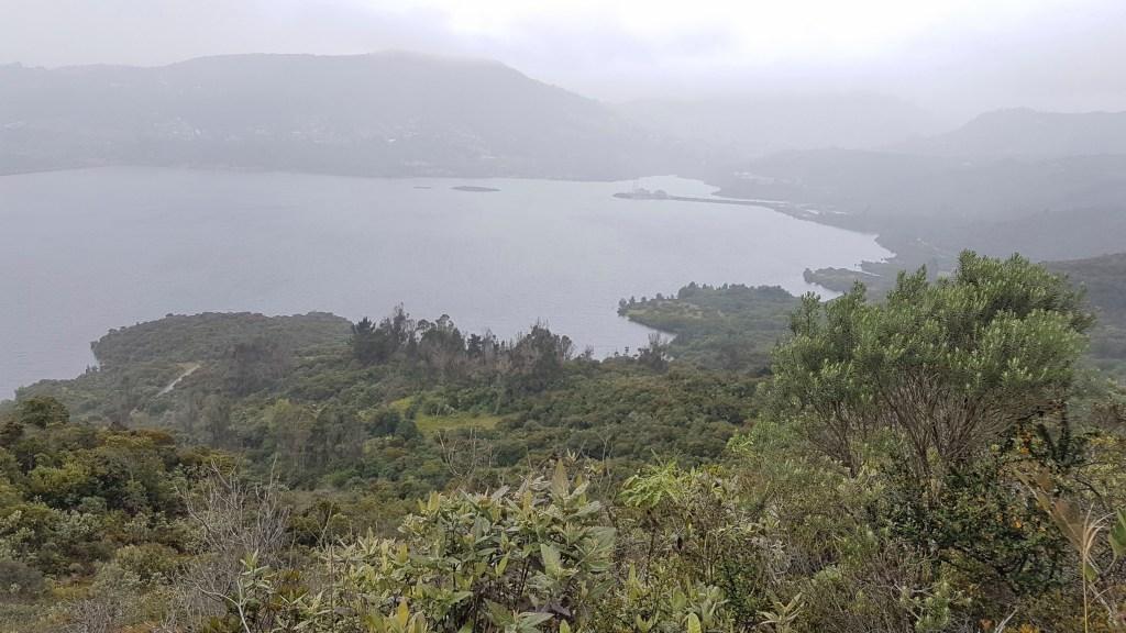 Views across the San Rafael reservoir in La Calera