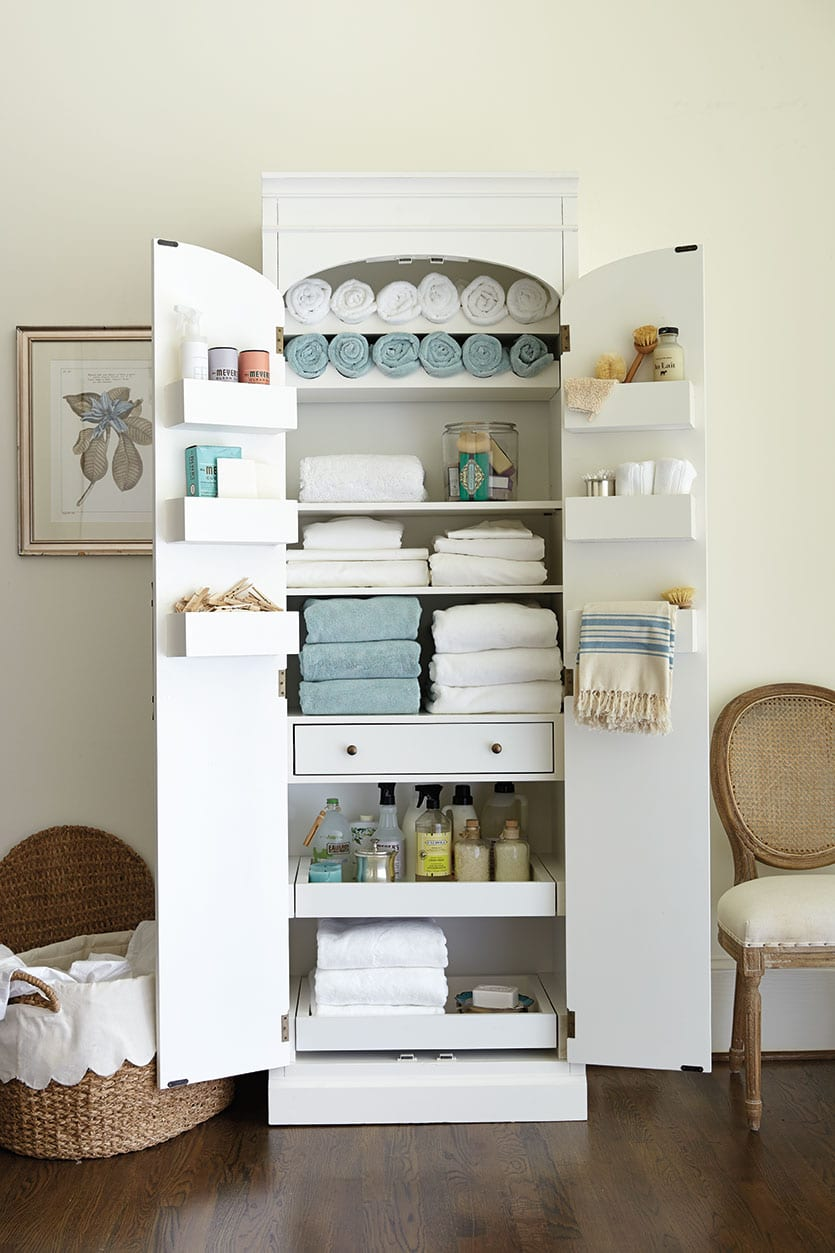 Freestanding Cabinet For Craft Amp Linen Storage How To