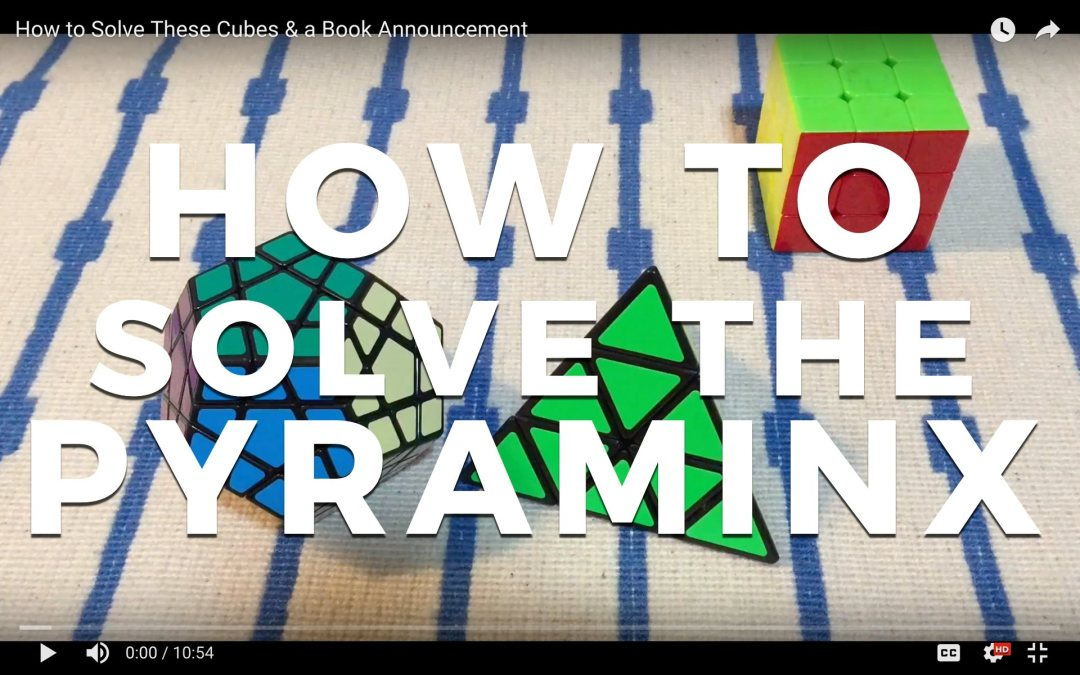 How to Solve the Pyraminx and The Box Announcement! [VIDEO]