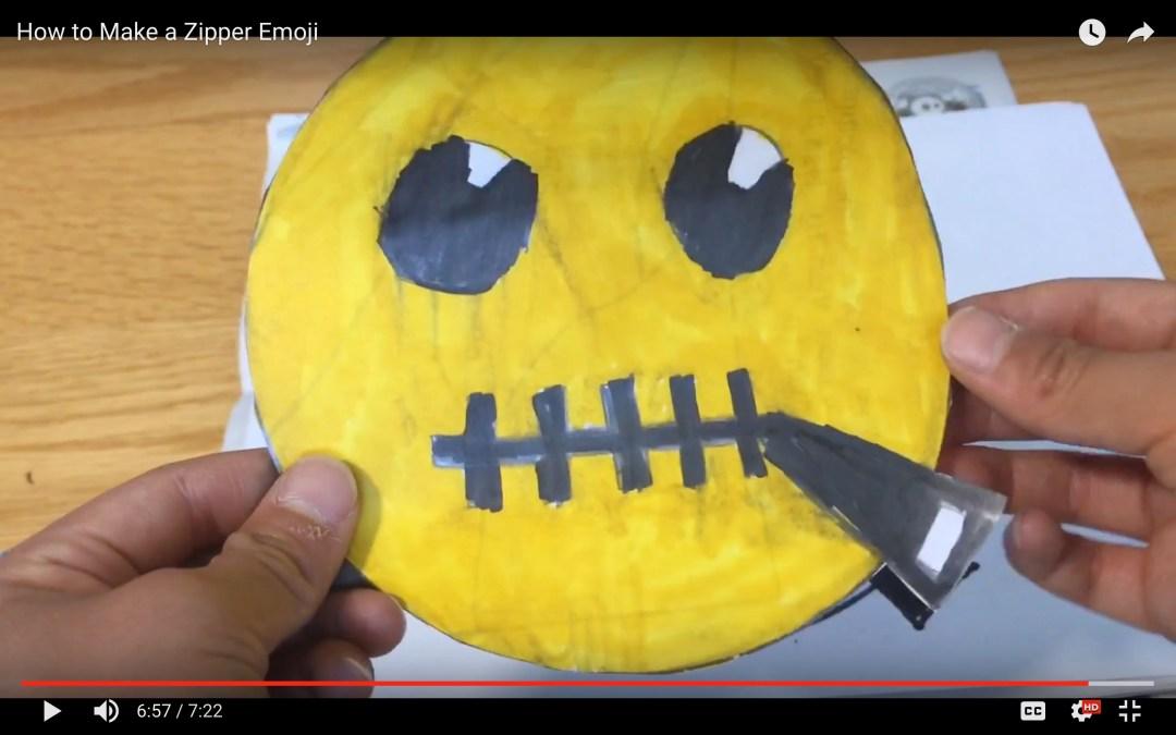 How to Make a Zipper Emoji [VIDEO]
