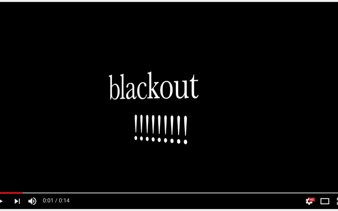 blackout!!! A new stop motion video