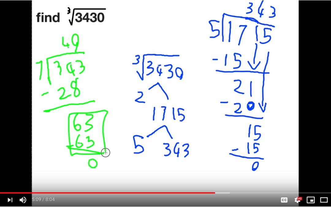 how to find the cube root of a large non perfect cube [VIDEO]