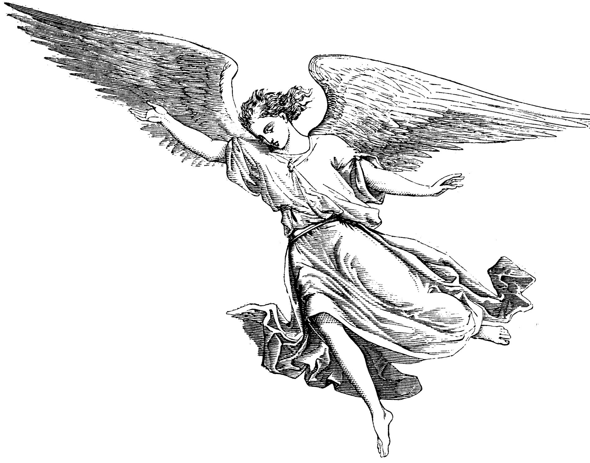 Coloring Pages Second Angel