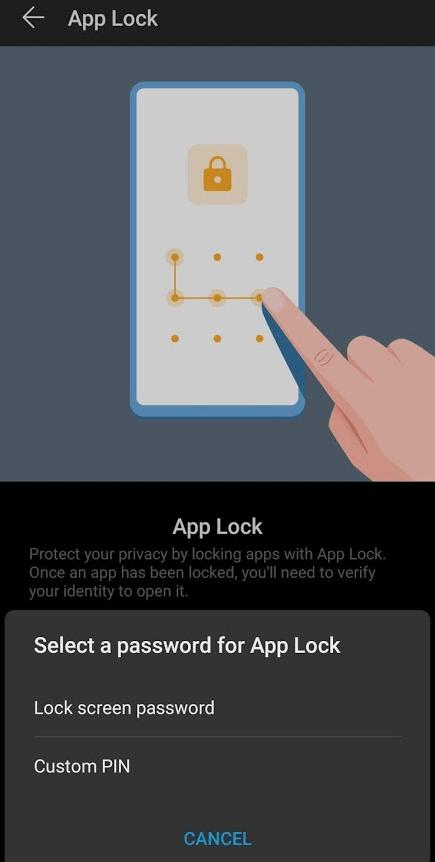 App Lock in P30 Pro
