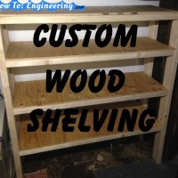 Custom wood shelving
