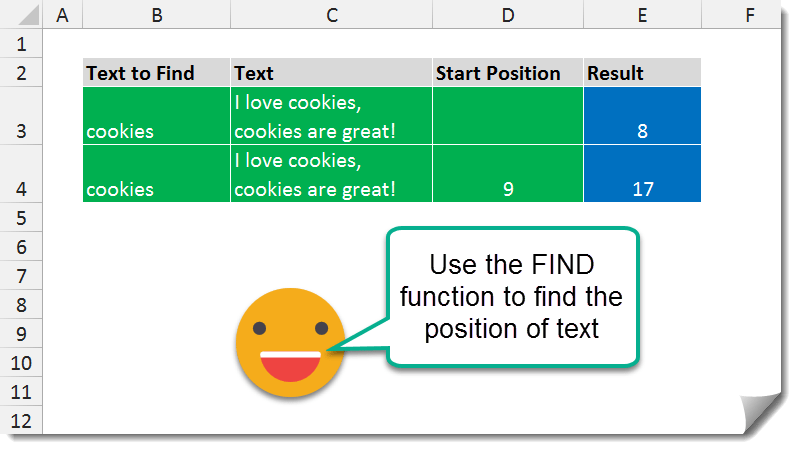Example-001-FIND-Function FIND function