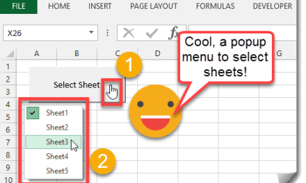 How To Create A Dynamic Worksheet Selection Popup Menu