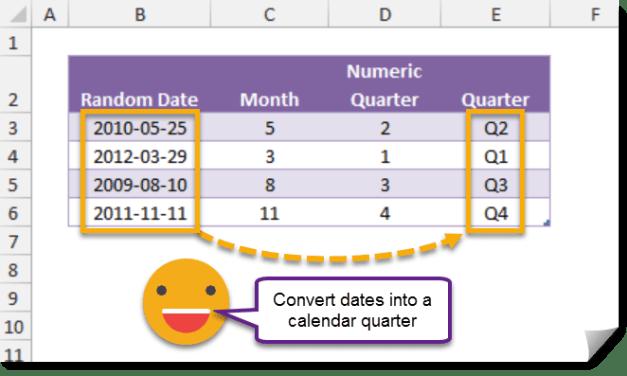 How To Convert A Date Into A Calendar Quarter