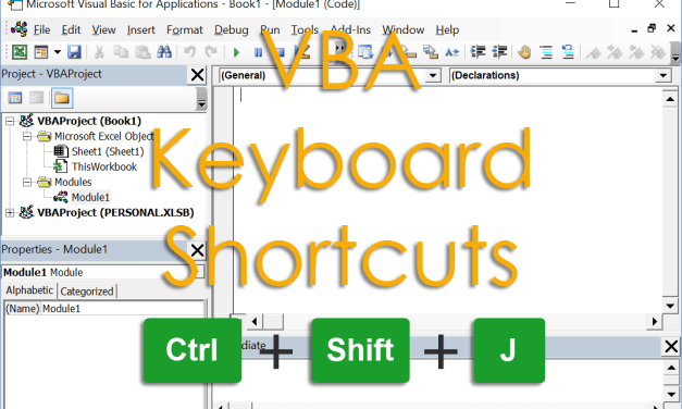 101+ Excel VBA Keyboard Shortcuts