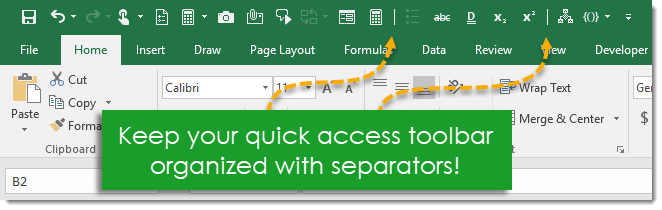 Hidden-Commands-You-Can-Add-to-Your-Quick-Access-Toolbar-Organize-Your-QAT-with-Separators 14+ Hidden Commands You Can Add to Your Quick Access Toolbar